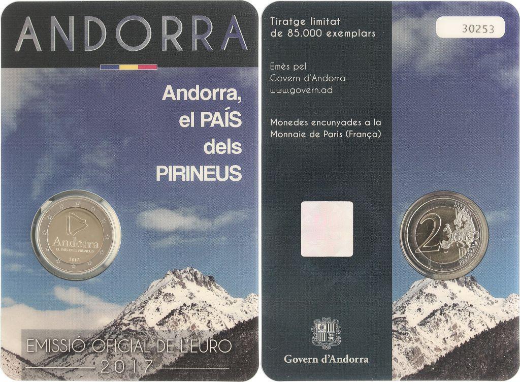Andorre 2 Euros, Pays des Pyrénées - 2017 Coincard