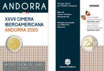 Andorre 2 Euros, Sommet Ibéro-Américain - 2020 Coincard - Dispo