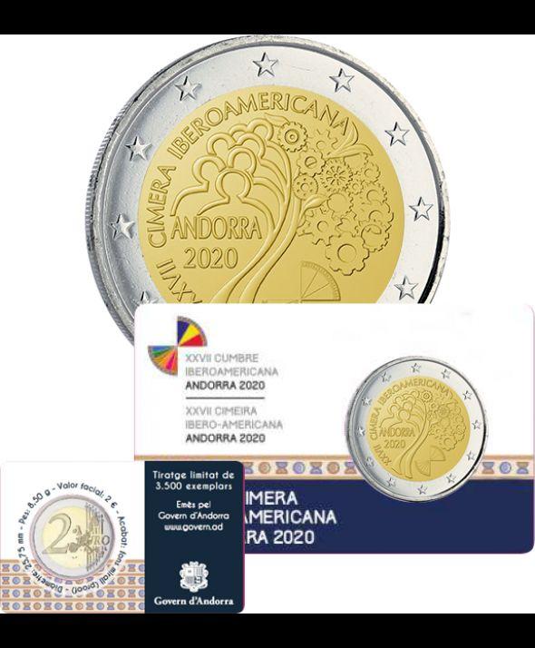 Andorre 2 Euros BE Sommet Ibéro-Américain 2020 - coincard DISPO
