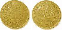 Andorre 50 Euros, 25 ans de la Constitution - 2018 Or