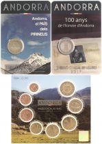 Andorre Pack 2 x 2 Euros 2017 et BU 2017 - Dispo le 15-02-2018