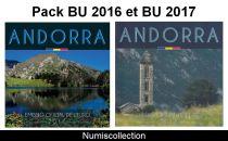 Andorre Pack BU 2017 et BU 2016 - Dispo le 15-02-2018