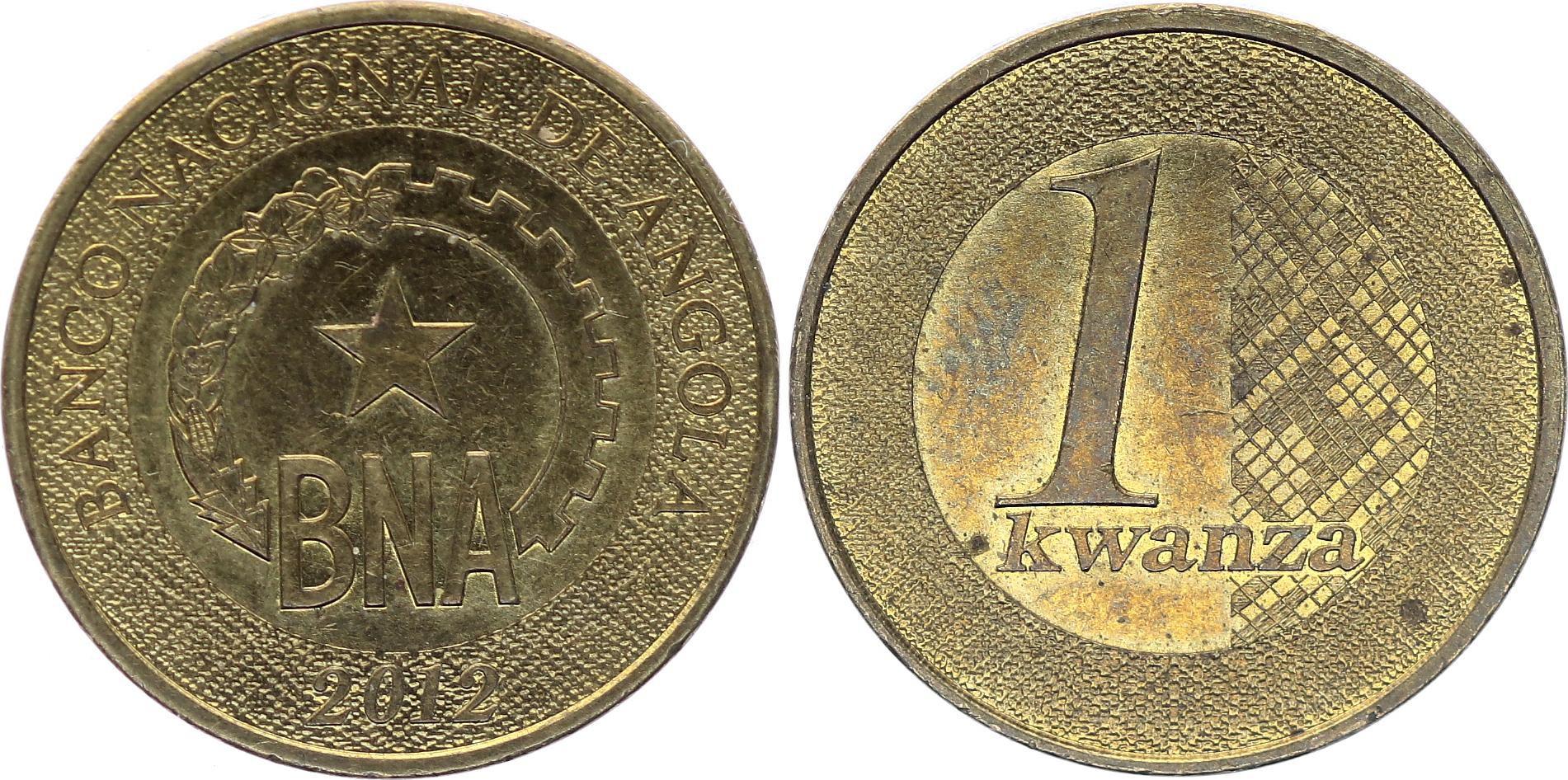 Angola 1 Kwanzas BNA - 2012 - Bimetal - AU - KM.108