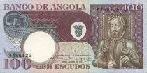Angola 100 Escudos L. de Camoes - Cocotier