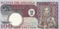 Angola 100 Escudos L. de Camoes - Tree - 1973