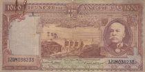 Angola 1000 Escudos B. Capelo , barrage - 1956 - G to VG - P.91