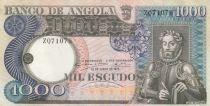Angola 1000 Escudos L. de Camoes - Cascade - Séries diverses - 1973
