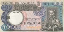 Angola 1000 Escudos L. de Camoes - Waterfalls - Differents serials - 1973