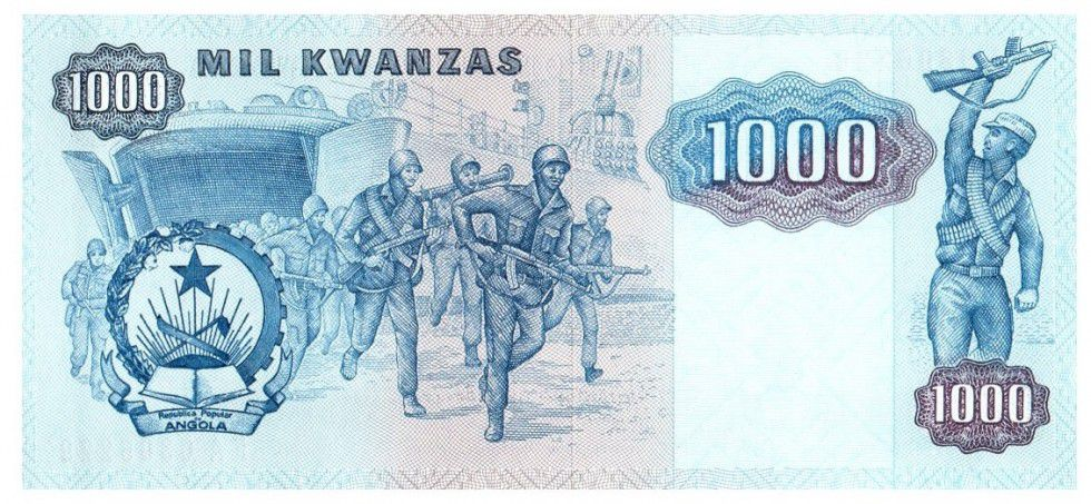 Angola 1000 Kwanza Dos Santos, Neto - Soldiers