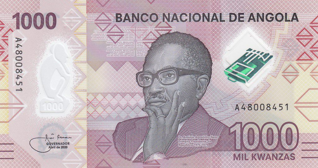 Angola 1000 Kwanzas A.A. Neto - 2020 - Polymer - Neuf