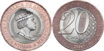 Angola 20 Kwanzas Reine Njinga Mbande (1582-1663) - 2014