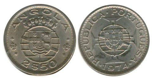 Angola 2.50 Escudos Armoiries