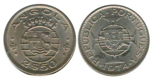 Angola 2.50 Escudos Arms