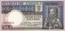 Angola 50 Escudos L. de Camoes - Plant - 06/10/1973