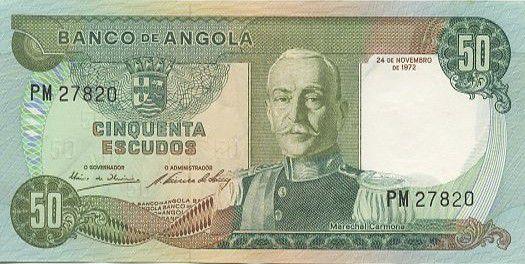 Angola 50 Escudos M. Carmona - Plants de Café