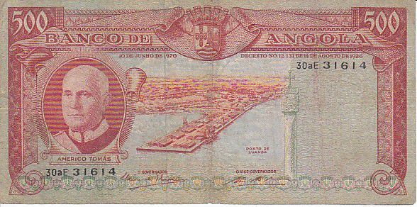 Angola 500 Escudos A. Tomas, port de Luanda