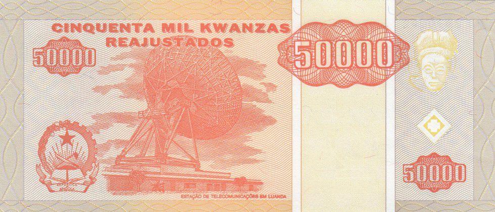 Angola 50000 Kwanzas Reajustados Reajustados, Dos Santos, Neto - Parabole - 1995