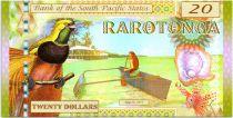 Animaux 20 Dollars, Rarotonga - Faune - 2015