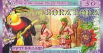 Animaux 50 Dollars, Bora Bora - Perroquet - Femme - Poisson - 2016