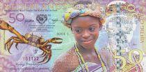 Animaux 50 Gulden, Jeune femme - Crabe 2016