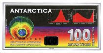Antarctica and Arctic 100 Dollars, fantasy note Weather Science - 1996