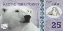 Antarctica and Arctic 25 Polar dollars, Polar bear - 2017