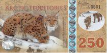 Antarctica and Arctic 250 Polar dollars, Lynx - 2017