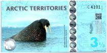 Antarctique et Arctique 3,5 Polar dollars, Morses - Svalbard - 2014