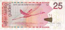 Antillas Holandesas 25 Gulden Flamingo - 2014