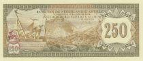 Antillas Holandesas 250 Gulden 1967 - Saba\'s Mountains