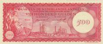 Antillas Holandesas 500 Gulden 1962 -  Oil refinery of Curacao