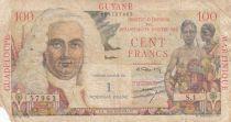 Antilles Françaises 1 NF / 100 Francs 1947 - La Bourdonnais - Série S.1, émission commune GUYANE MARTINIQUE GUADELOUPE