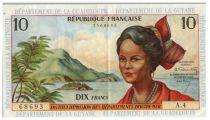 Antilles Françaises 10 Francs Jeune Antillaise - 1964 - A4