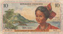 Antilles Françaises 10 Francs Jeune Antillaise - 1964 - Série B.7- TB+ - P.8b