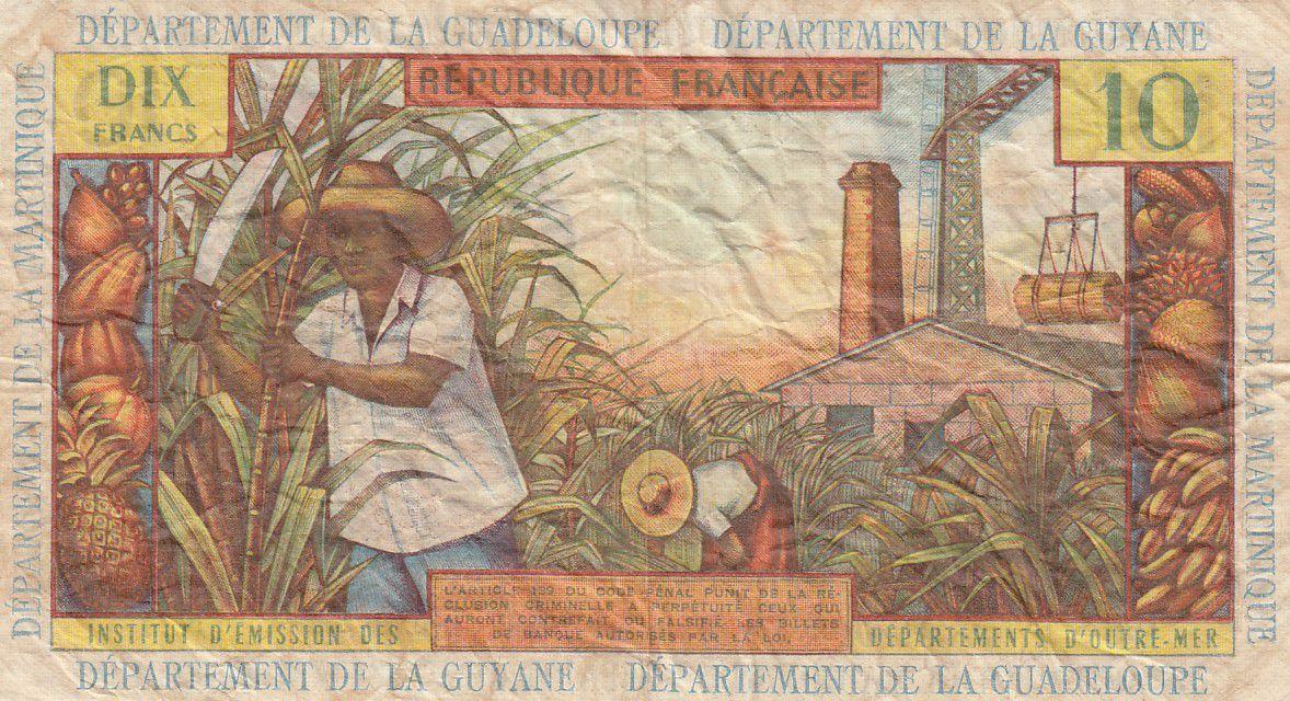 Antilles Françaises 10 Francs Jeune Antillaise - 1964 - Série N.7 - TB+ - P.8b
