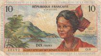 Antilles Françaises 10 Francs Jeune Antillaise - 1964 - Série O.6- TB+ - P.8b
