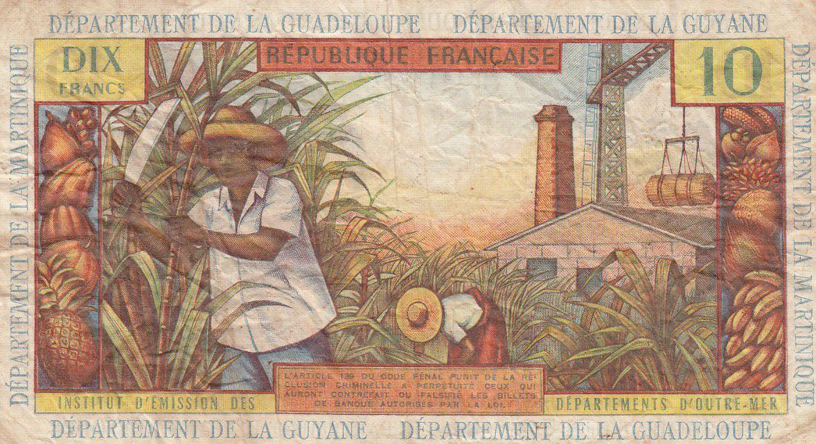 Antilles Françaises 10 Francs Jeune Antillaise - 1964 - Série R.6- TB+ - P.8b