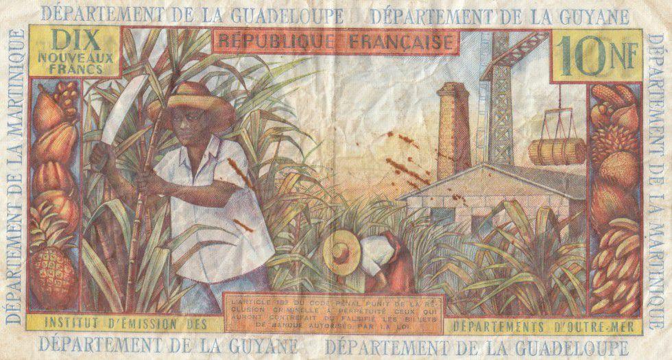 Antilles Françaises 10 NF Jeune Antilliaise - 1962
