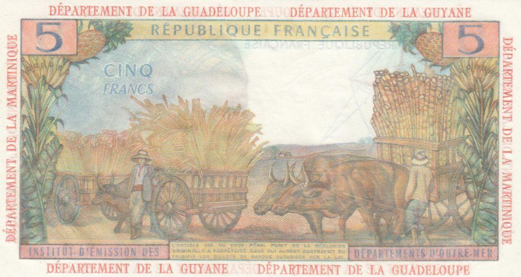 Antilles Françaises 5 Francs Antillaises - 1966 Série H.1