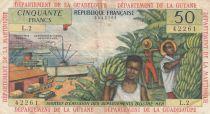 Antilles Françaises 50 Francs Bananiers - 1964 - Série L.2 - TTB - P.9 b