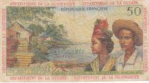 Antilles Françaises 50 Francs Bananiers - 1964 - Série W.2 -TB+ - P.9 b