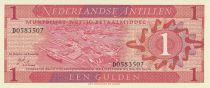 Antilles Néerlandaises 1 Gulden Vue du port - 1970