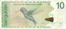 Antilles Néerlandaises 10 Gulden 2014  - Colibri