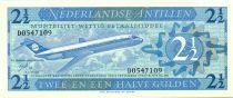 Antilles Néerlandaises 2 1/2 Gulden, Jet en vol - 1970