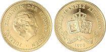 Antilles Néerlandaises 50 Gulden - Juliana - Armoiries - 1979 - Or