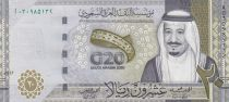Arabie Saoudite 20 Riyals,  Roi Salmane - 2020 - Polymer - Neuf -G20