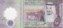 Arabie Saoudite 5 Riyals,  Roi Salmane - 2020 - Polymer - Neuf
