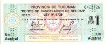 Argentina 1 Austral, Province of Tucuman - 1985