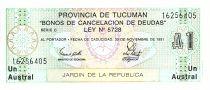 Argentina 1 Austral, Province of Tucuman - 1991