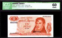 Argentina 1 Peso M. Belgrano - Bariloche-Llao-Llao - 1970 - ICG AU/UNC60
